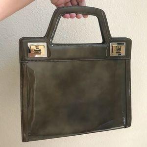 785147e0595e Salvatore ferragamo olive clasp vintage satchel